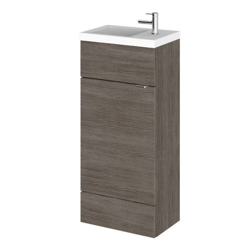 Elite Grey Avola 400mm Compact Vanity Unit & Basin